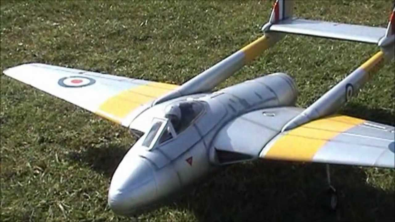 D H 100 Vampire Mk6 EDF Hobbyking Durafly upgrades and changes ducted fan