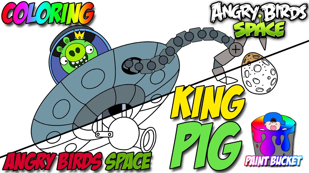 angry birds space coloring pages king pig angry birds coloring