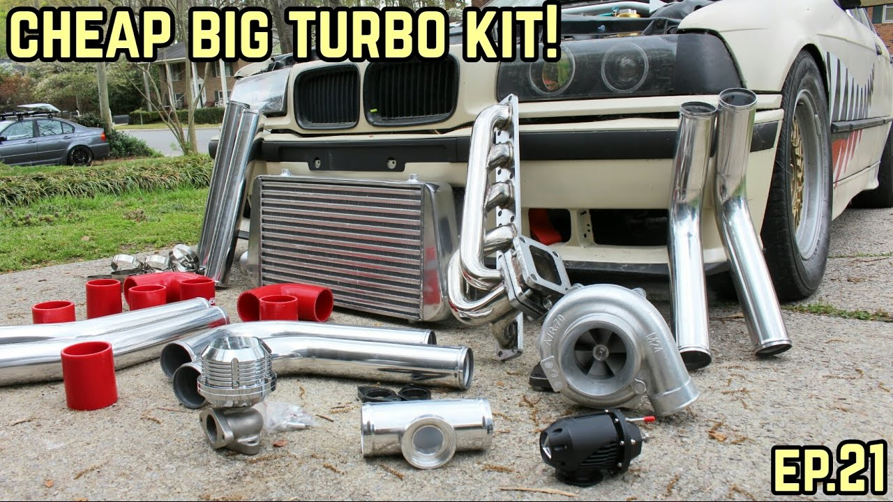 THE BIG TURBO KIT IS COMPLETE! : BMW E36 325i Drift Build Ep 21