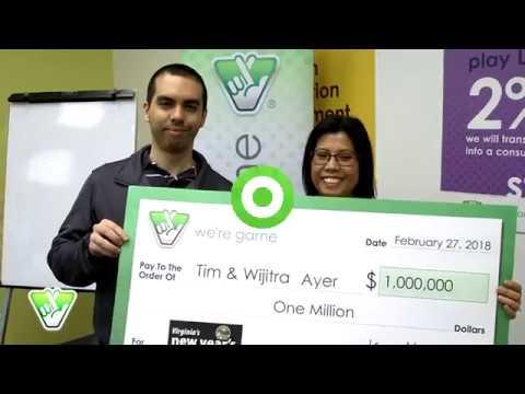 Mother and Son Split $1 Million Raffle Ticket!