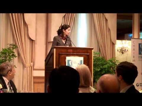 2012 Eisenhower Fellow Roxana Damaschin-Tecu at Annual Meeting Dinner