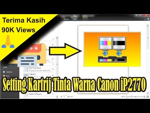 cara isi ulang menyuntik tinta warna dicartridge Printer canon mp287.