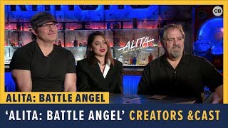 Robert Rodriguez, Rosa Salazar and Jon Landau talk 'Alita: Battle Angel'