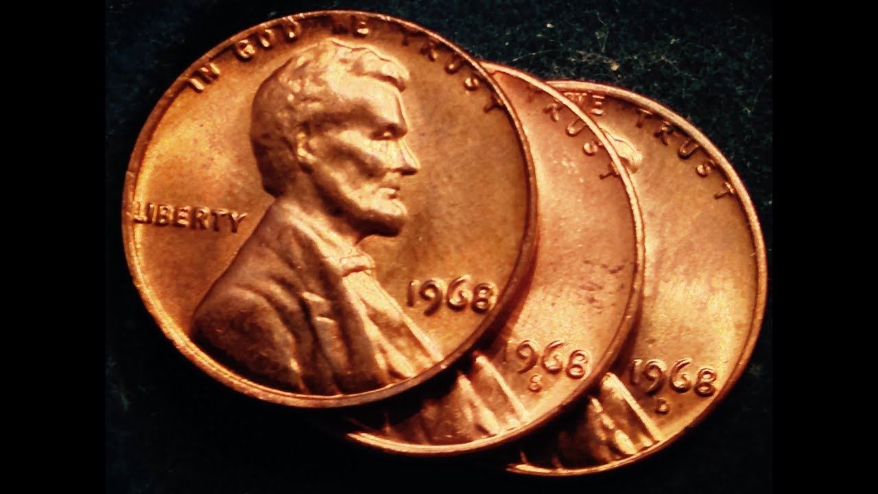 1968 Lincoln Penny 48 BILLION Produced And 3 Known Error Types
