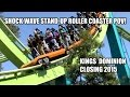 Shockwave Stand Up Roller Coaster POV Kings Dominion Closing in 2015