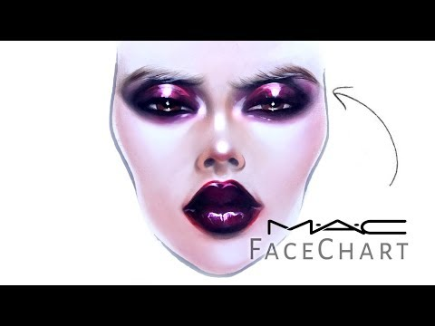 image about Printable Face Painting Chart identified as MAC Experience Chart Drawing with Make-up upon paper Liza