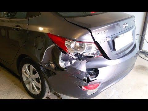 Хундай Солярис Hyundai Accent ремонт кузова в Нижнем Новгороде  Auto body repair