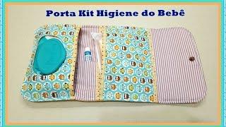 Passo à Passo Porta Kit Higiene do Bebê de Tecido