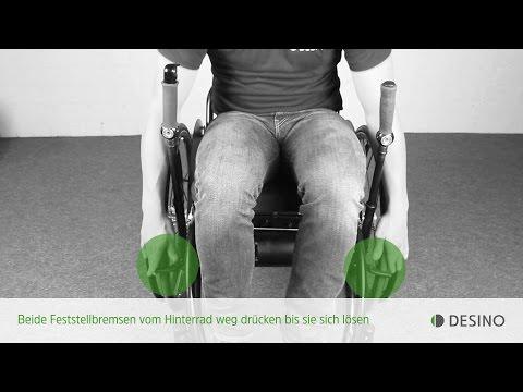 Lesson 05 - Feststellbremse: Richtig Rolli-Fahren mit den Hebelrollstühlen radius und medius