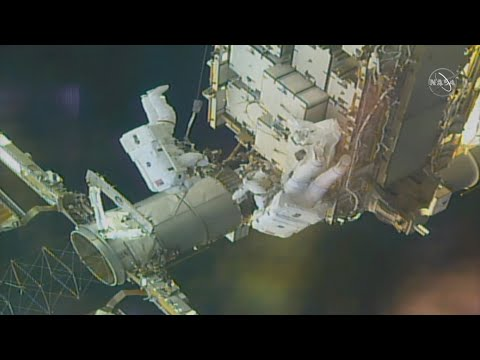 Watch these NASA astronauts take a spacewalk outside of the ISS