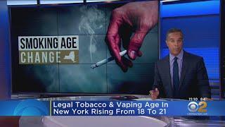 New York Raises Smoking Age To 21