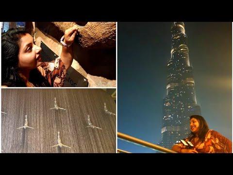 Burj Khalifa light show || World's largest Indoor Aquarium || Dubai Mall fountain show