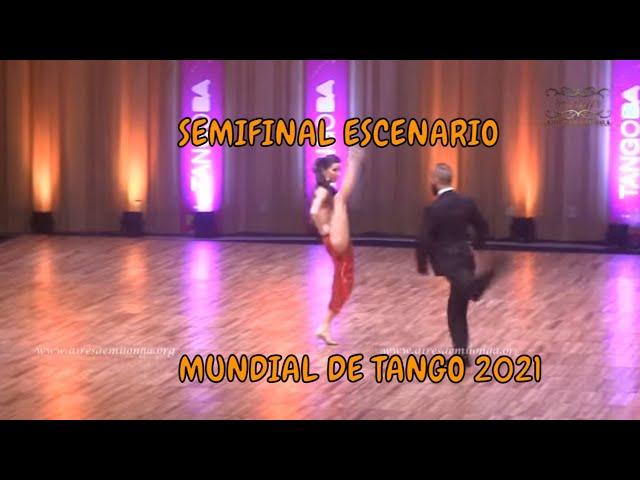 SEMIFINAL ESCENARIO, Leonardo Pankow, Laura Donofrio, Mundial de tango 2021 World cup baile de tango