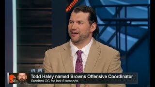 Todd Haley Named Browns OC | NFL Live | Jan 23, 2018