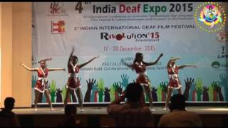 Thankful to Ms Sakeela who invited all international foreigners for Deaf Expo 2015