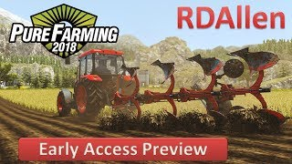 Pure Farming 2018 Free Play on Germany - Plowing with the Zetor
