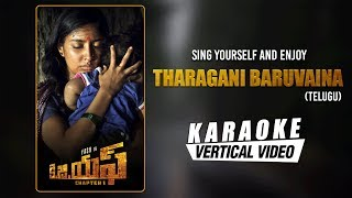 Tharagani Baruvaina - Karaoke | KGF Telugu Movie | Yash | Ravi Basrur | Prashanth Neel