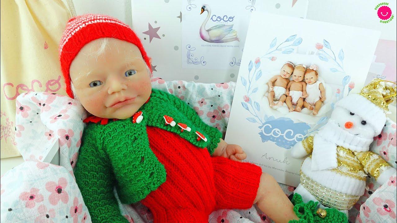 ¡¡Caja sorpresa!! Nueva ANUK Elfa de Navidad -  Bebés de silicona Coco Reborn