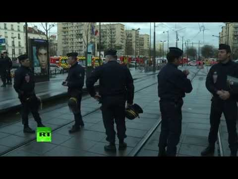Hostage crisis in Paris kosher grocery store (Video from scene)