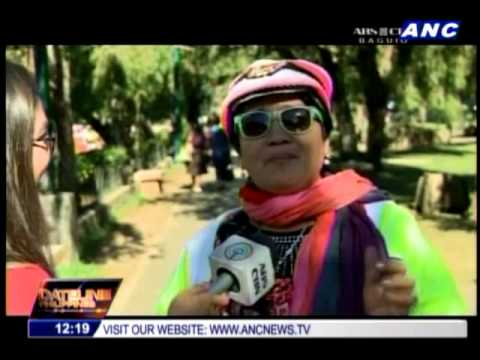 Tourists head to Baguio as temperatures dip
