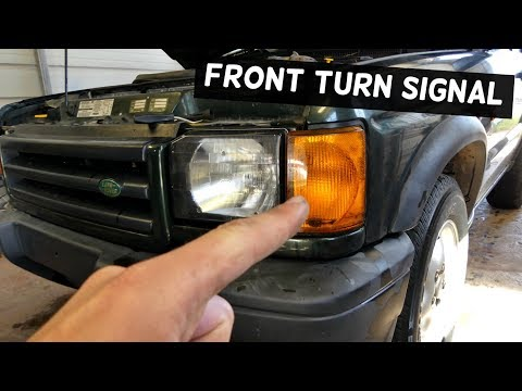 LAND ROVER DISCOVERY FRONT TURN SIGNAL LIGHT REMOVAL REPLACEMENT