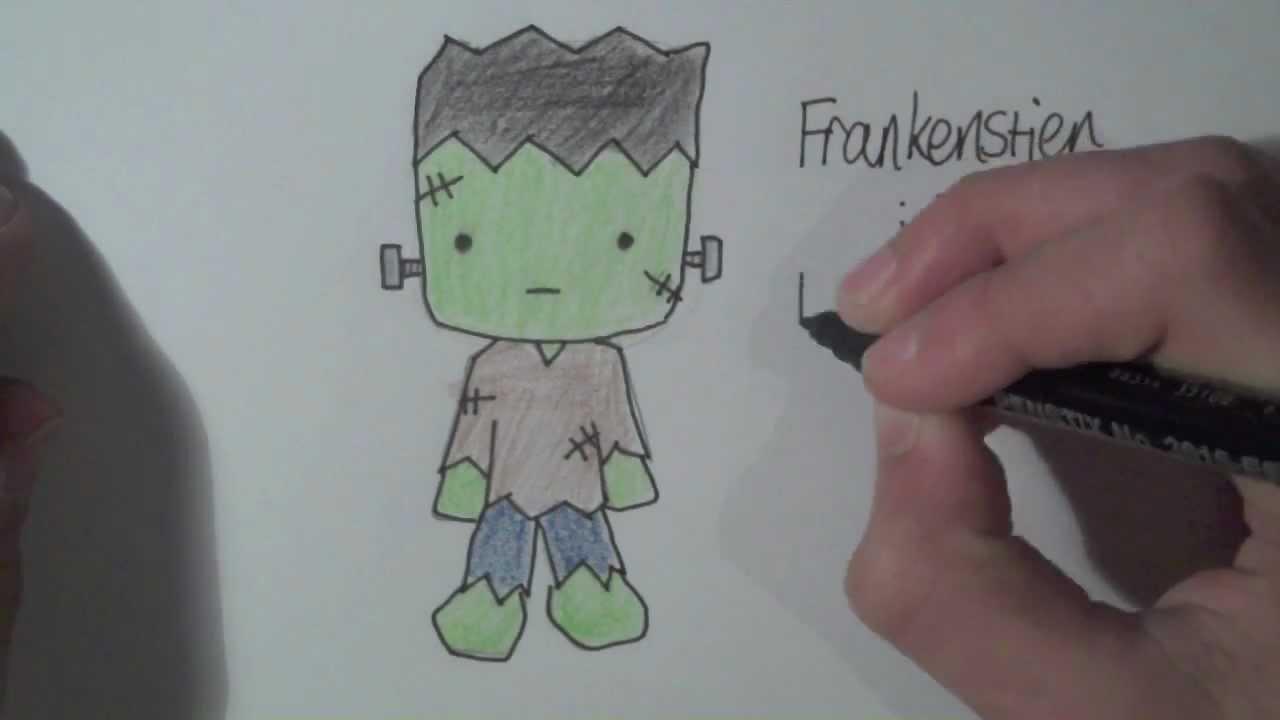 how to draw halloween characters frankenstien youtube