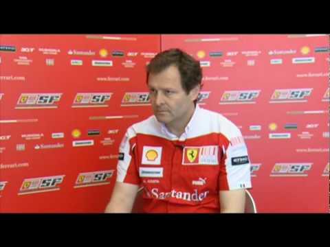 F1 2010 - Interview with Aldo Costa (Ferrari) before Barcelona