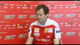 F1 2010 - Interview with Aldo Costa (Ferrari) before Barcelona