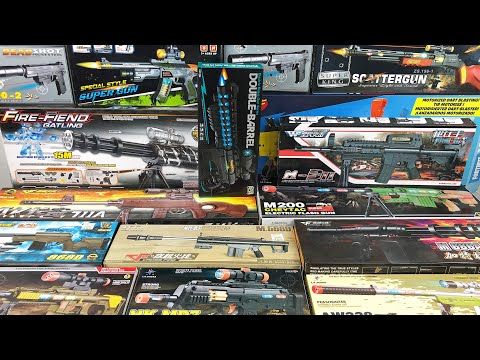 Various Toy Weapons Unboxing! Legend Big Rifles - BB Guns and Elektronic Active Weapons