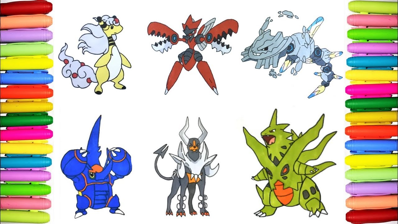 Mega Pokemon Coloring Pages 3 Youtube