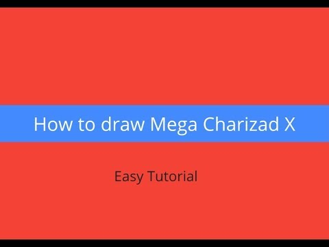 how to draw charizard x step by step