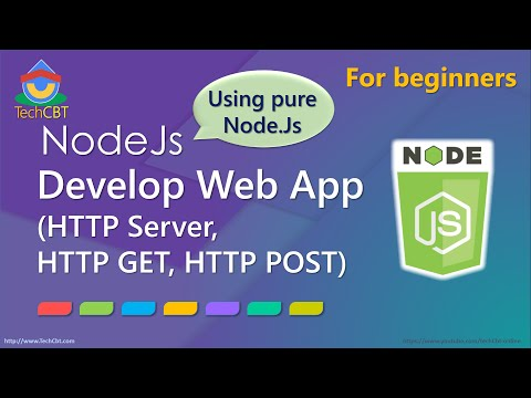 How to Develop Web Application using pure Node.js (HTTP GET and POST, HTTP Server)