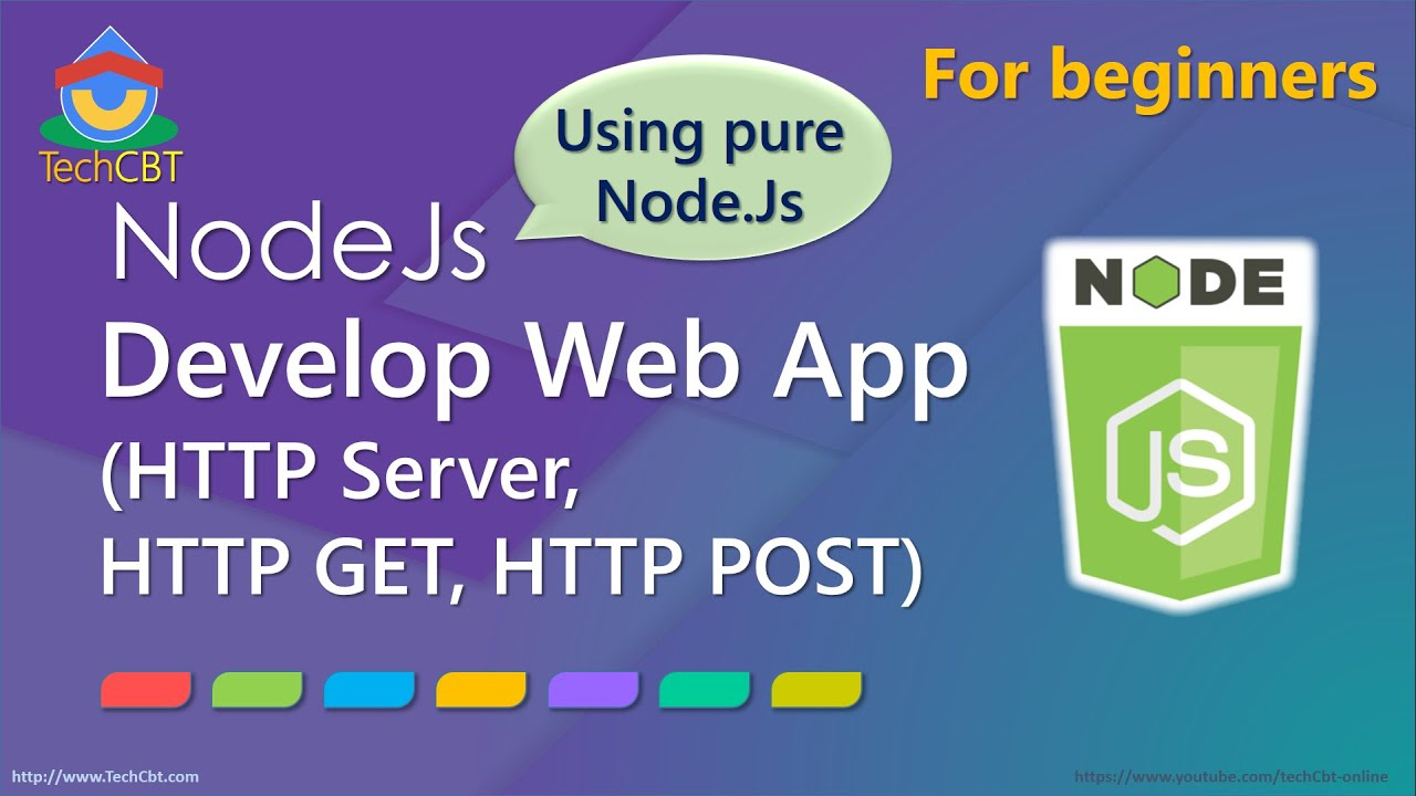 How To Develop Web Application Using Pure Nodejs (http Get And Post, Http  Server)