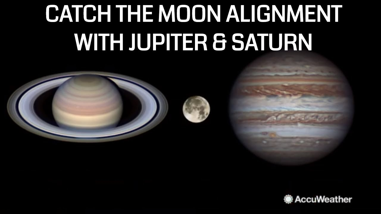 Catch the Moon aligning between Jupiter and Saturn this August
