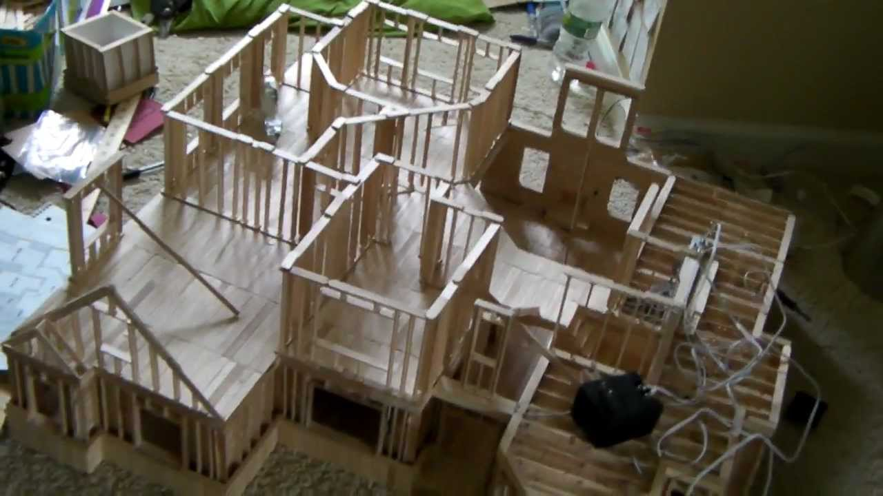 17 building popsicle stick house youtube for Time to build a house