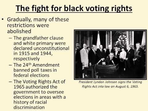 A History of Voting in the United States