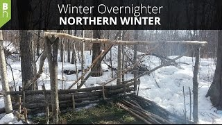 A Winter Camping Overnighter In Northern Canada - Northern Winter -  Bushcraft Heroes