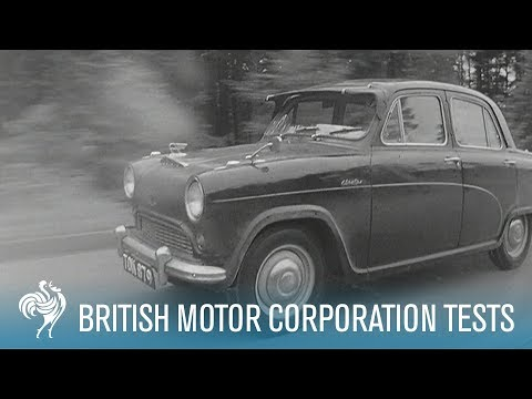 British Car Trials on The Autobahn: Tests Such As These | British Pathé