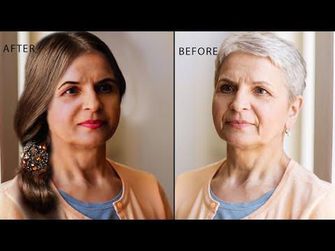 Photoshop Made Beautiful Older Women to Young Lady  Photoshop Tutorials  New Photoshop thumbnail