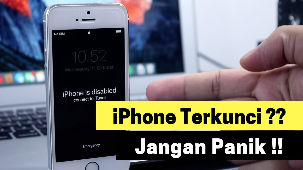 Cara Membuka iPhone yang Terkunci (iPhone is Disabled)