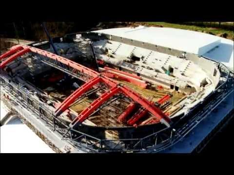 construction de la salle antar 232 s en 1995