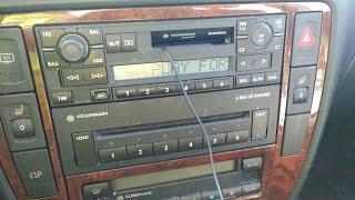 Audio cassette adapter test on a 2002 Volkswagen cassette player