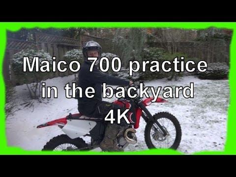 Maico 700 Ridiculous Backyard Snow Practice Ride in 4K!