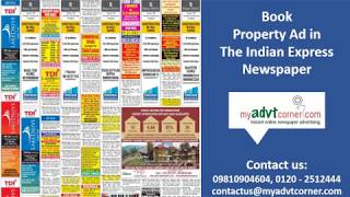 The Indian Express Property Ad Booking Online @ Myadvtcorner