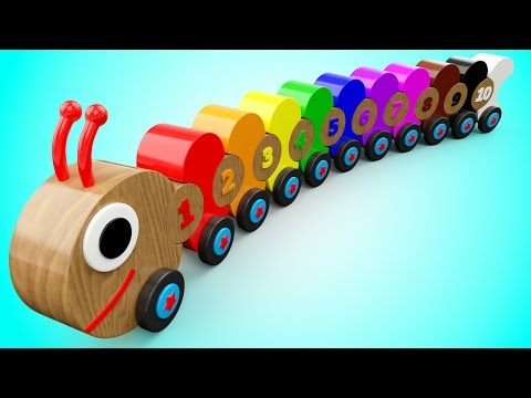 Thumbnail: Learn Colors and Numbers for Children with Wooden Caterpillar Toys Kids Toddler Educational Videos