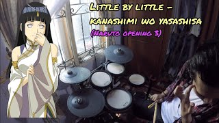 Naruto Opening 3 | Drum Cover by wawankiting | Little by little - Kanashimi wo yasashisa