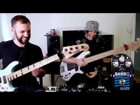 Erik Arkö & Henrik Linder testing the EBS Bass IQ 'Blue Label'