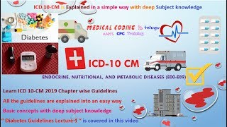 Diabetes Lecture 1 II ICD 10 Diabetes Guidelines