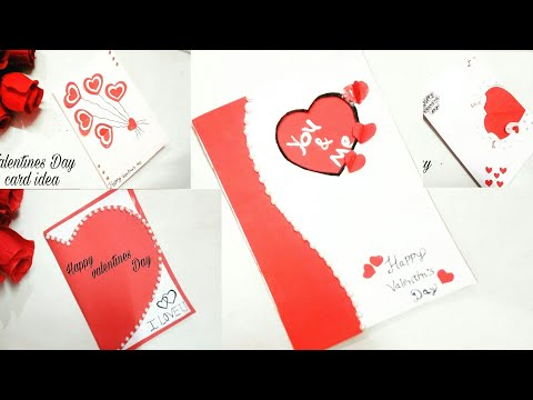 10 amazing card idea for Valentine's Day||10 Lovely Diy greeting cards