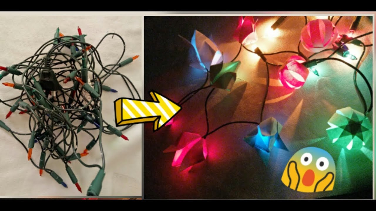2 Amazing Christmas New Year Decoration Ideas How To Use Old Lights Into 2 New Ways